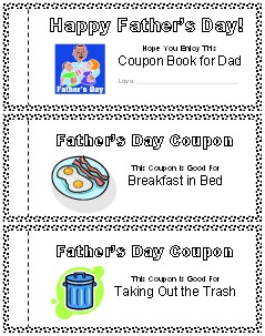Printable Father's Day Coupon Book