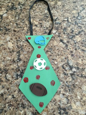 Fingerprint Father's Day Tie Craft