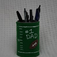 Father's Day Football Pen Holder Craft