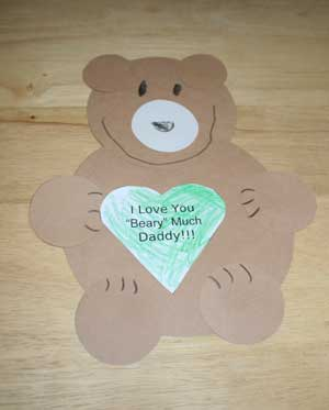 fathers day bear card