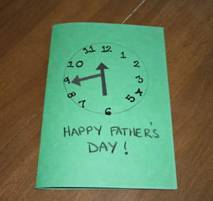 making a fathers day card