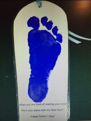 fathers day footprint bookmark craft