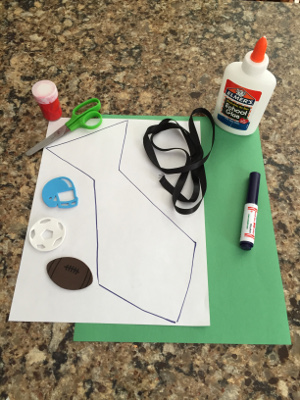 fathers day fingerprint tie craft materials