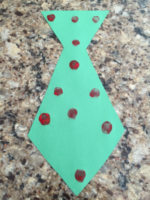 fathers day fingerprint tie craft step 2