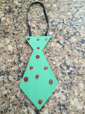 fathers day fingerprint tie craft step 3