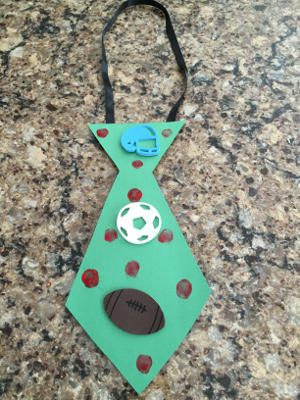 fathers day fingerprint tie craft