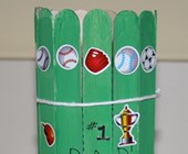 Popsicle Stick Pencil Holder Craft