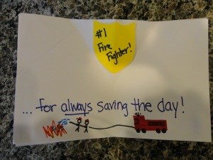 Fire Department Pop-Up Thank You Card
