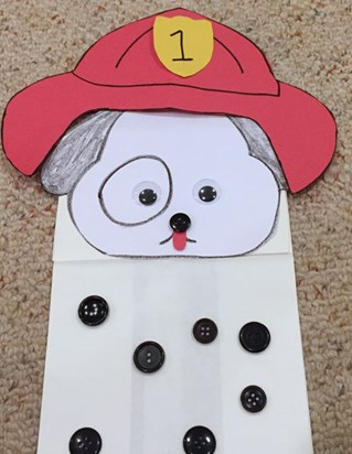 Dalmatian Puppet Craft