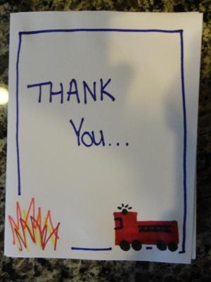 Thank You Fire Department Card Craft All Kids Network