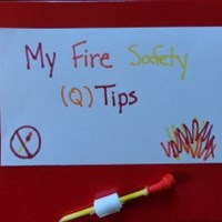 Matchbox Fire Safety Tips Craft
