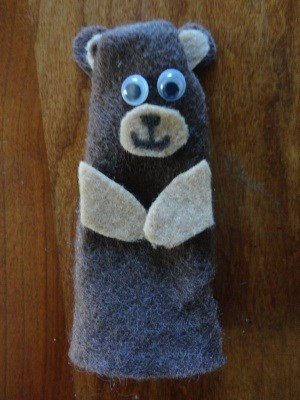 Smokey the Bear Finger Puppet Craft