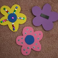 Flower Magnets Craft