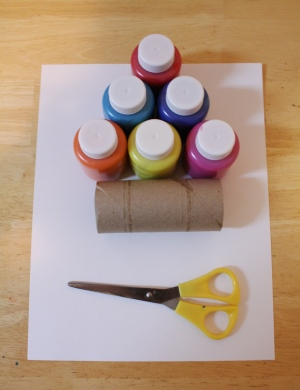 paper roll flower print craft materials