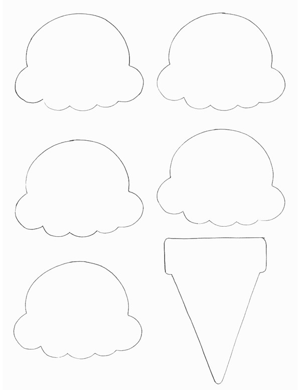 photograph regarding Printable Ice Cream Cones known as Foods Crafts - Print your Ice Product Cone Template All Little ones