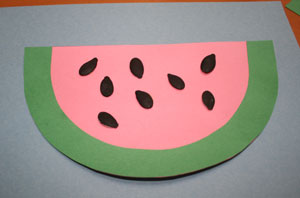 kids watermelon craft