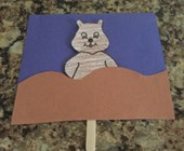 Groundhog Puppet Craft