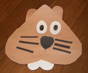 paper groundhog craft