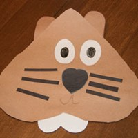 Heart Groundhog Craft