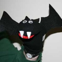 Sock Puppet Bat Craft