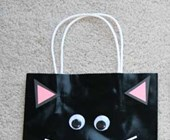 Black Cat Trick-or-Treat Bag Craft