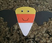 Candy Corn Bat Craft