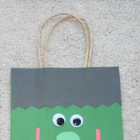 Frankenstein Trick-or-Treat Bag Craft