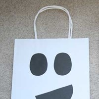 Ghost Trick-or-Treat Bag Craft