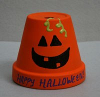 Halloween Pumpkin Pot Craft