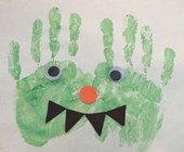 Handprint Monster Craft