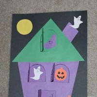 Lift-the-flap Haunted House Craft