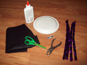 halloween spider craft materials