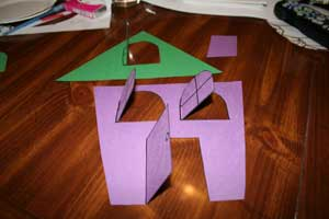 lift flap haunted house craft