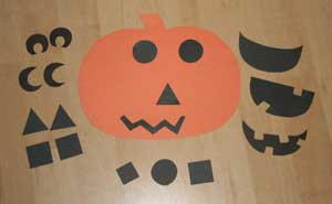 jack-o-lantern face craft