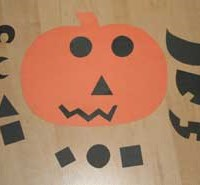 Pick-a-face Jack-o-lantern Craft