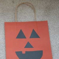 Jack-O-Lantern Trick-or-Treat Bag Craft