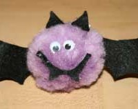 Pom-Pom Bat Craft