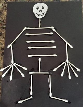 Q Tip Skeleton Craft