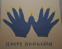 Hanukkah Handprint Menorah Craft