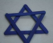 Hanukkah Popsicle Stick Star of David Craft