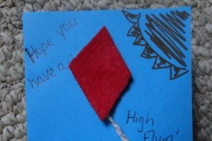 High Flying Kite Birthday Card