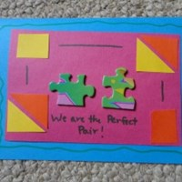 Perfect Pair Puzzle Piece Card