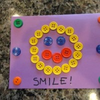 Smile Button Greeting Card