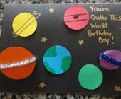 Outta This World Outer Space Birthday Card