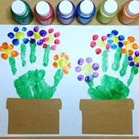 handprint flowers craft