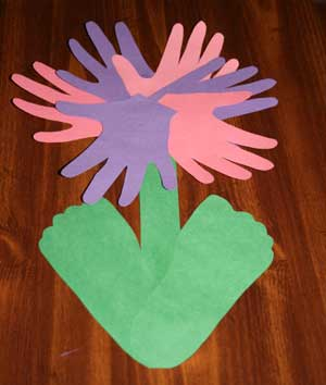 flower craft for mom