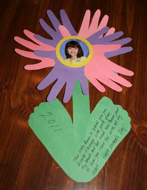 mothers day hand and footprint craft