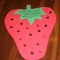 Mother's Day Strawberry Card Craft