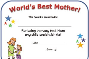 World's Best Mom Certificate