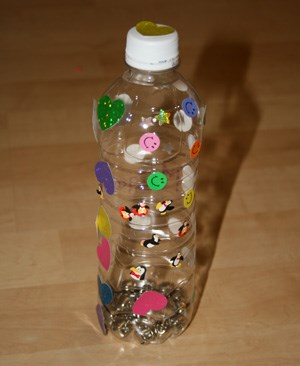 Water Bottle Rattle Craft